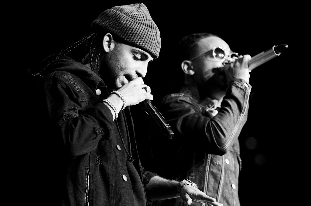Arcngel and Ozuna perform onstage during Calibash 2017 at Staples Center on Jan. 21, 2017 in Los Angeles.