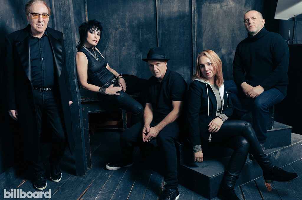 Kenny Kaguna (manager), Joan Jett, Kevin Kerslake (director), Carianne Brinkman (producer) and Joel Marcus (writer/editor) from 'Bad Reputation'