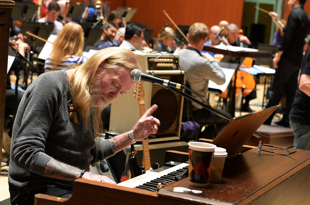 """Gregg Allman during rehearsals for """"Celebrating Georgia With Chuck Leavell & Friends"""" at Atlanta Symphony Hall on Jan. 18, 2014 in Atlanta."""