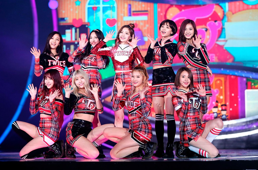 Twice in Seoul, South Korea on Dec. 28, 2015.