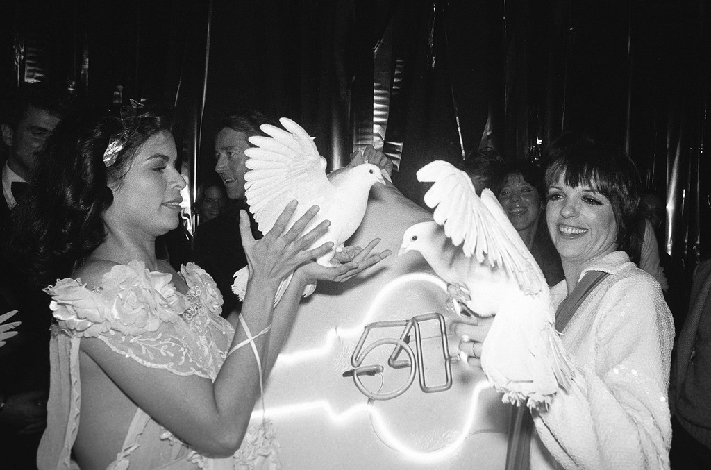 Bianca Jagger and Liza Minnelli at Studio 54