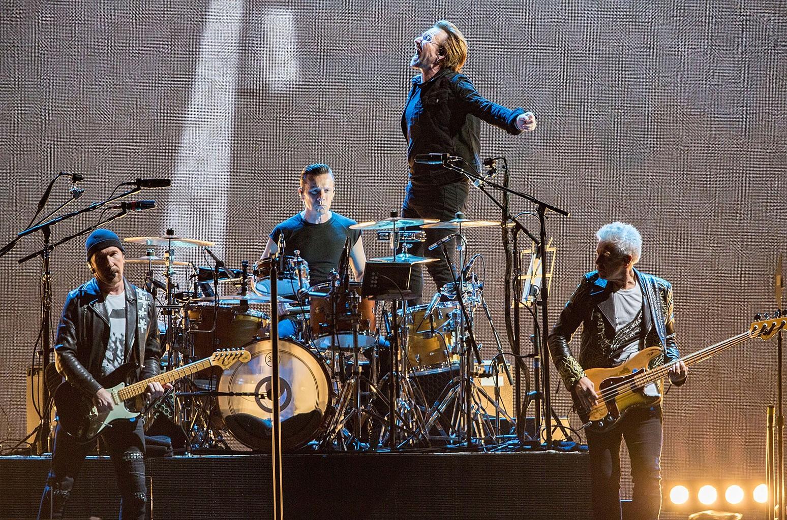 The Edge, Larry Mullen Jr., Bono, and Adam Clayton of U2