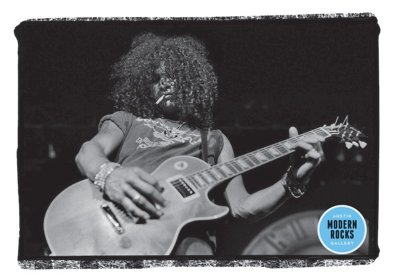 Slash of Guns N' Roses performing in Dallas in 1988.