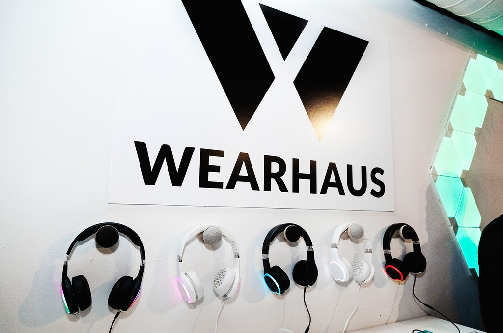 Wearhaus headphones at the 'Lost of Stuff in a Store' Deadmau5 pop-up shop on March 31, 2017 in New York City.