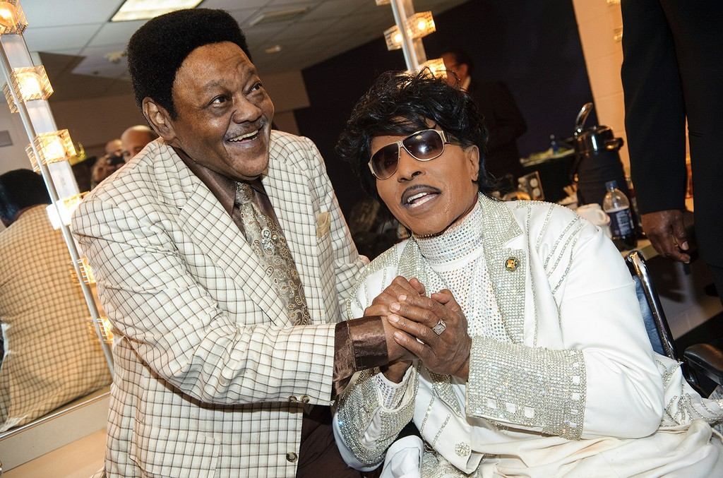 """Antoine """"Fats"""" Domino and Little Richard"""