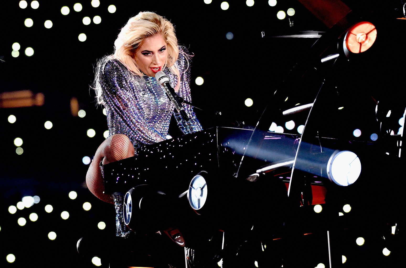 Lady Gaga performs onstage during the Pepsi Zero Sugar Super Bowl LI Halftime Show at NRG Stadium on February 5, 2017 in Houston,