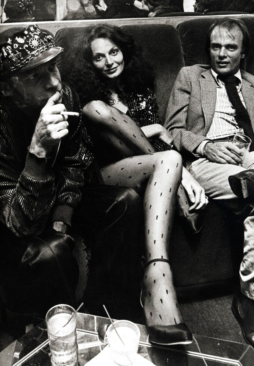 Ara Gallant and Diane von Furstenberg at Studio 54