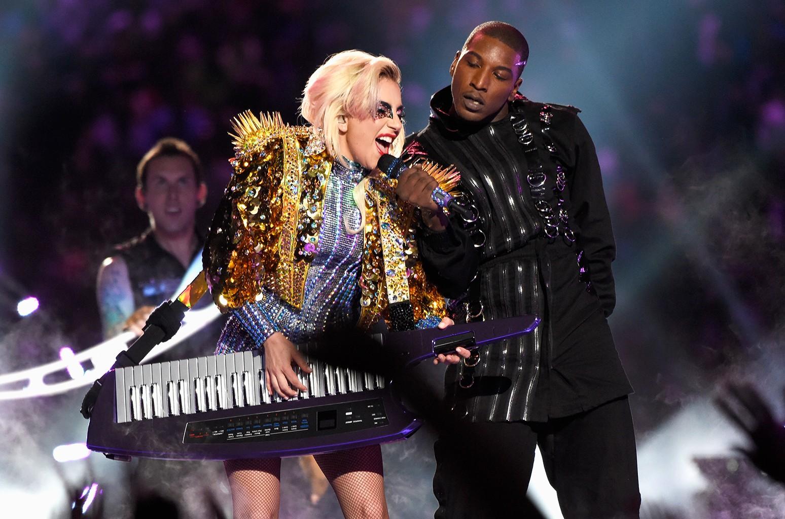 Lady Gaga performs during the Pepsi Zero Sugar Super Bowl LI Halftime Show at NRG Stadium on Feb. 5, 2017 in Houston.