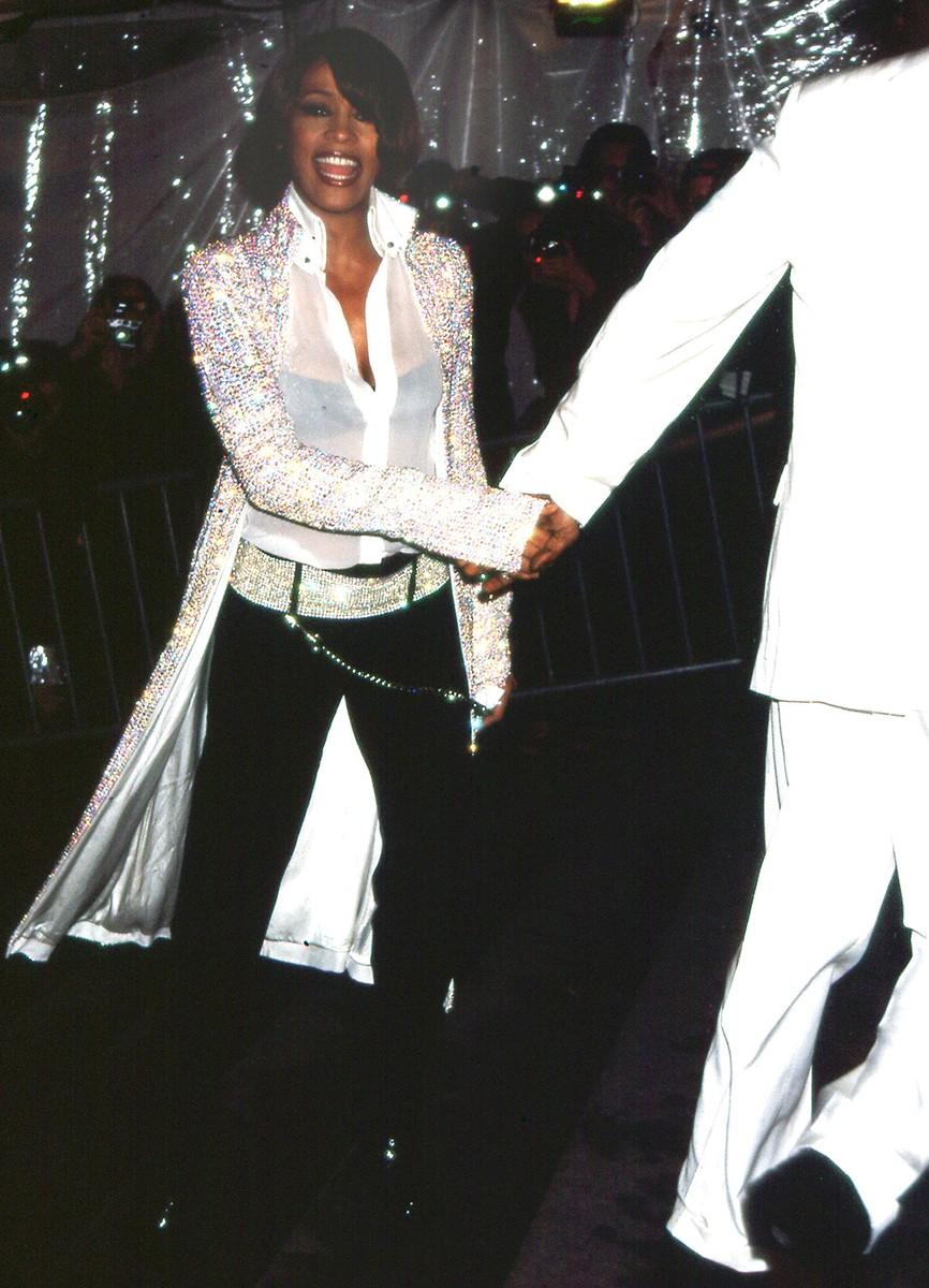 Whitney Houston at the Costume Institute gala