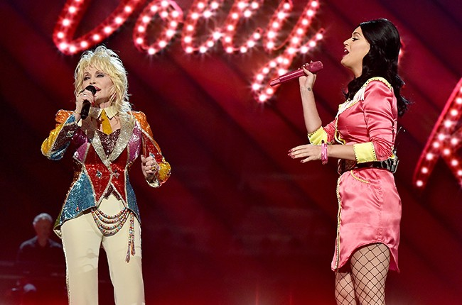 Dolly Parton and Katy Perry Academy of Country Music Awards 2016