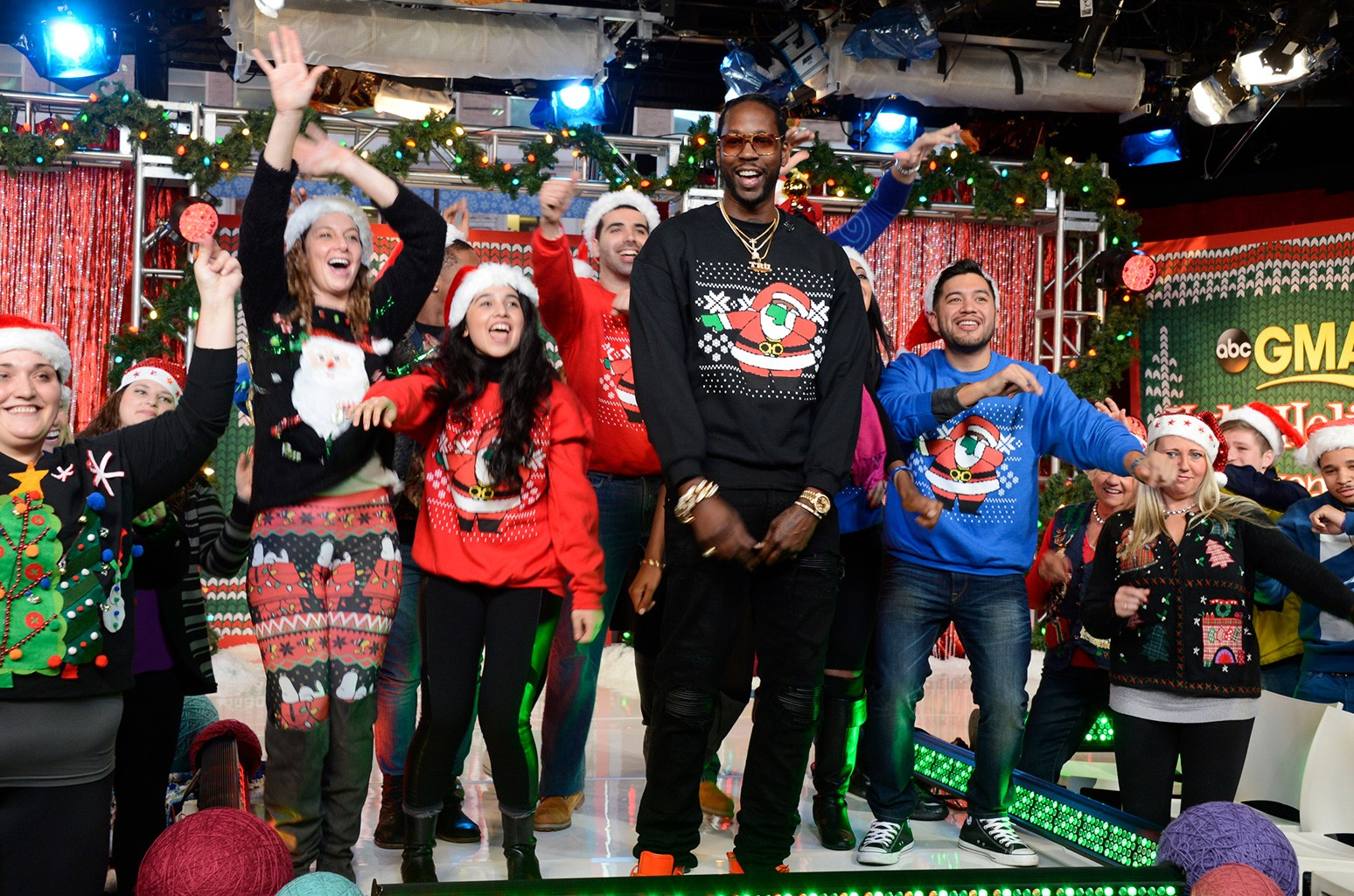 2 Chainz on Good Morning American on Dec. 17, 2015.