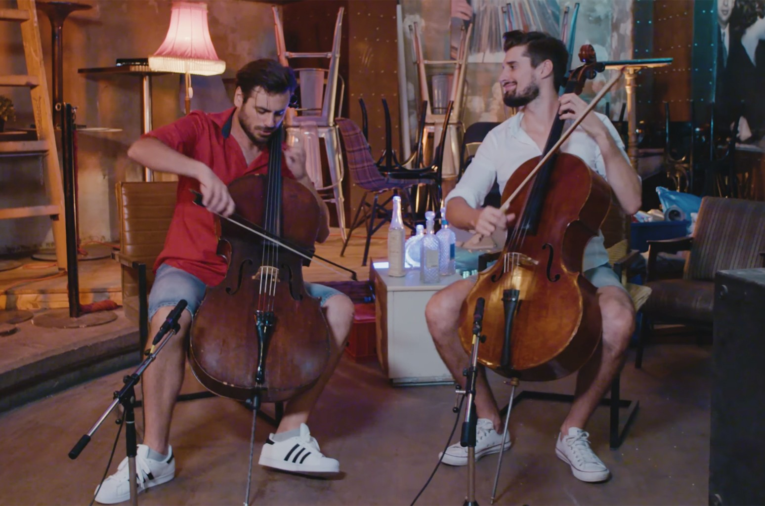 2CELLOS in the video for their cover of  Despacito