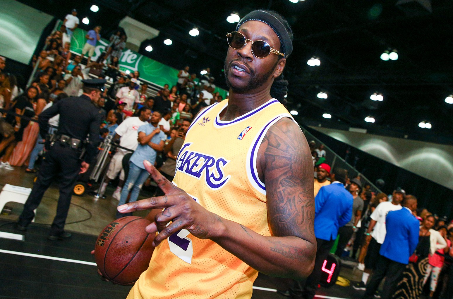 2 Chainz plays in the Sprite Celebrity Basketball Game