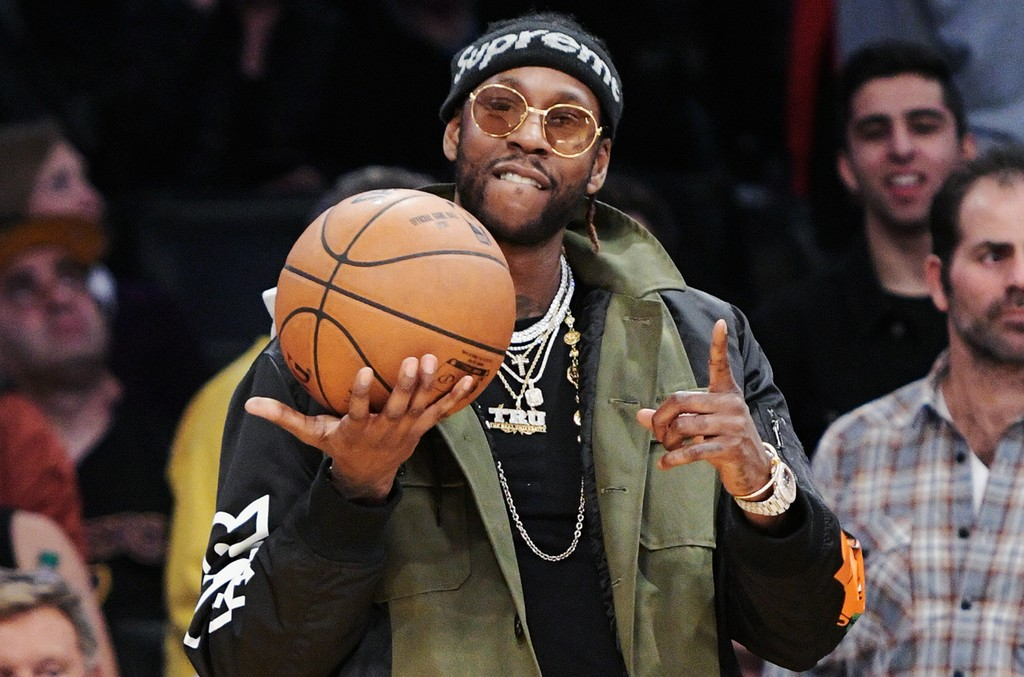 2 Chainz attends a basketball game between the Denver Nuggets and the Los Angeles Lakers at Staples Center on Jan. 17, 2017 in Los Angeles.