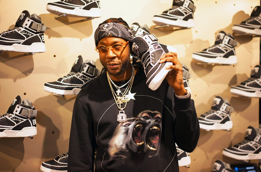 2 Chainz attends the 2 Chainz Ewing sneaker release at Jimmy Jazz on March 21, 2017 in New York City.
