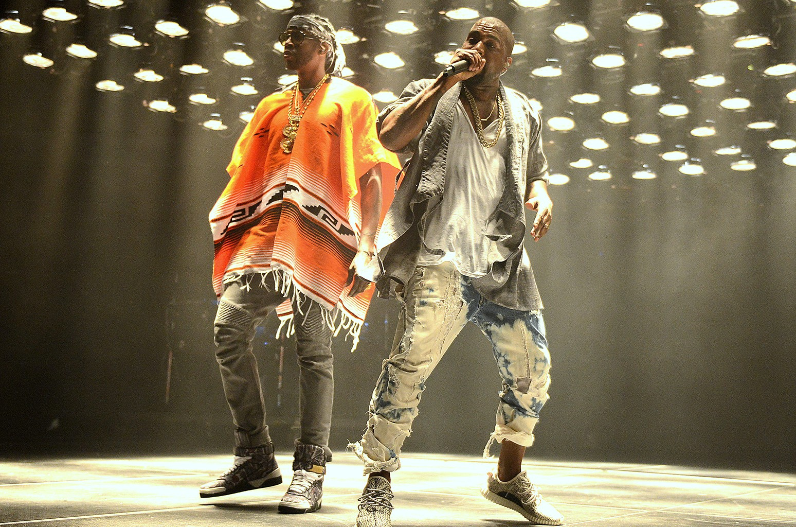 2 Chainz and Kanye West perform in Atlanta