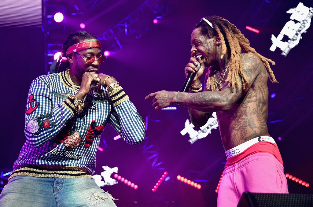 2 Chainz and Lil Wayne during the 2016 BET Experience