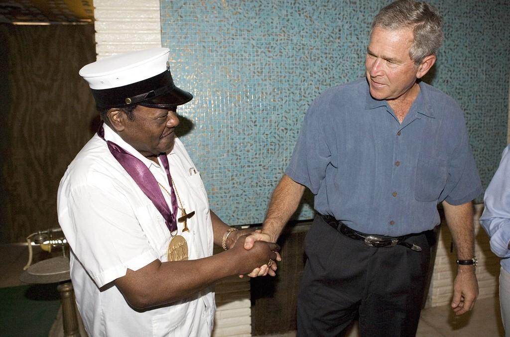 George W. Bush and Fats Domino