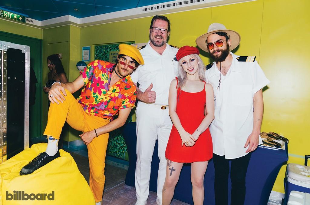 Paramore Pose With Captain Ingar Kjellin