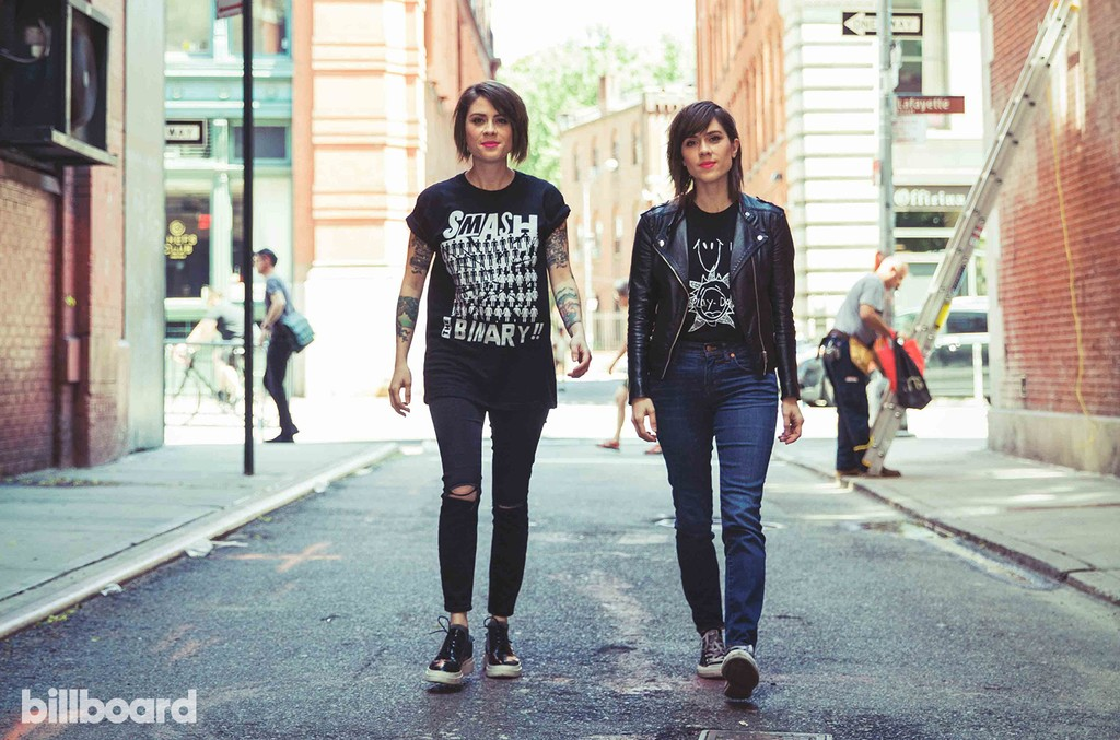Tegan and Sara photographed on June 24, 2017 in New York City.