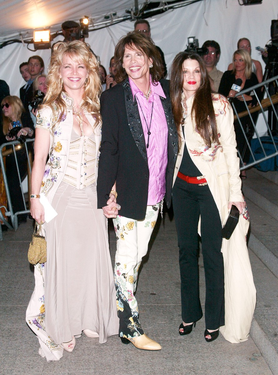 Steven Tyler arrives with two guests to the Metropolitan Museum of Art Costume Institute Benefit Gala