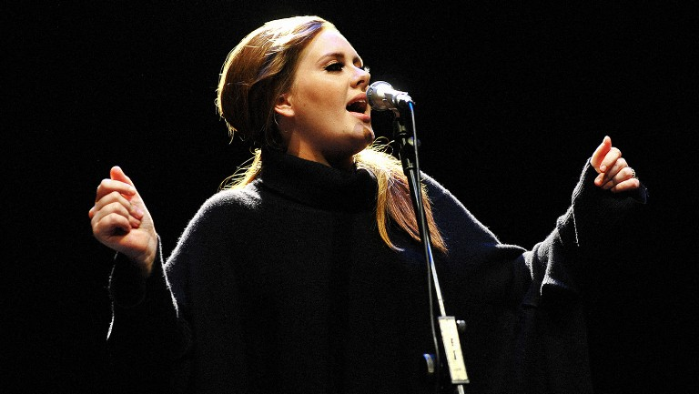 <p>Adele performing in 2011.</p>