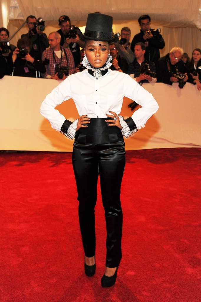 """Janelle Monae attends the """"Alexander McQueen: Savage Beauty"""" Costume Institute Gala"""