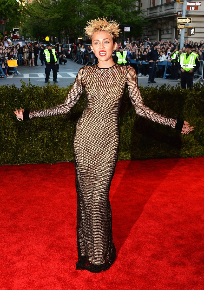 """Miley Cyrus attends the Costume Institute Gala for the """"PUNK: Chaos to Couture"""""""