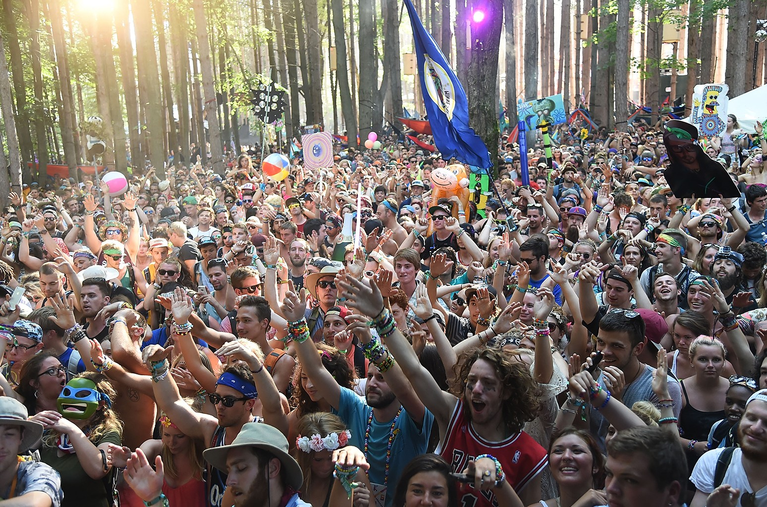 Atmosphere as Kygo performs during Day 4 of the 2014 Electric Forest Festival on June 29, 2014 in Rothbury, Michigan.