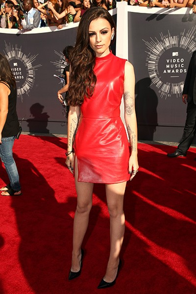 Cher Lloyd arrives at the 2014 VMAs