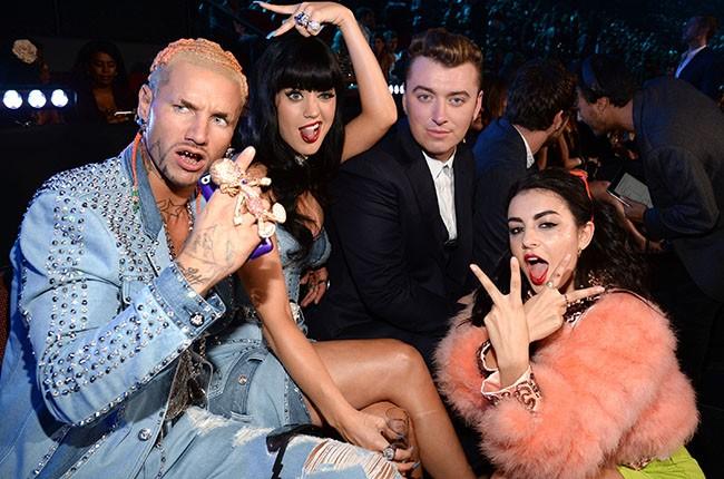 Riff Raff, Katy Perry, Sam Smith and Charli XCX, VMAs 2014.