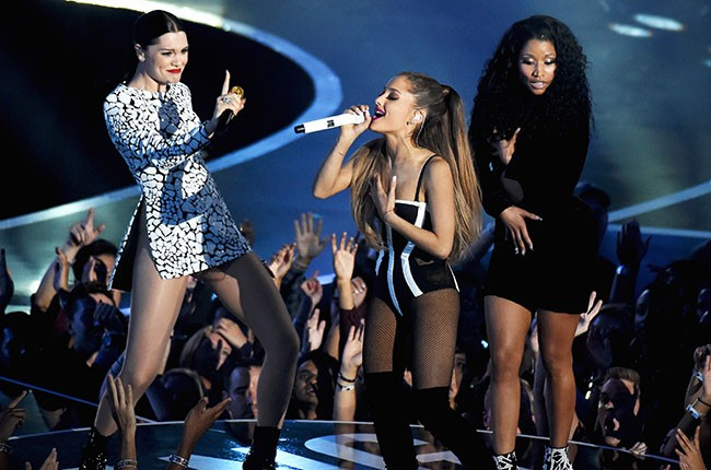 Jessie J, Ariana Grande, and Nicki Minaj, VMAs 2014.