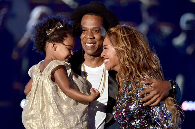Blue Ivy Carter, Jay-Z and Beyonce at the 2014 VMAs