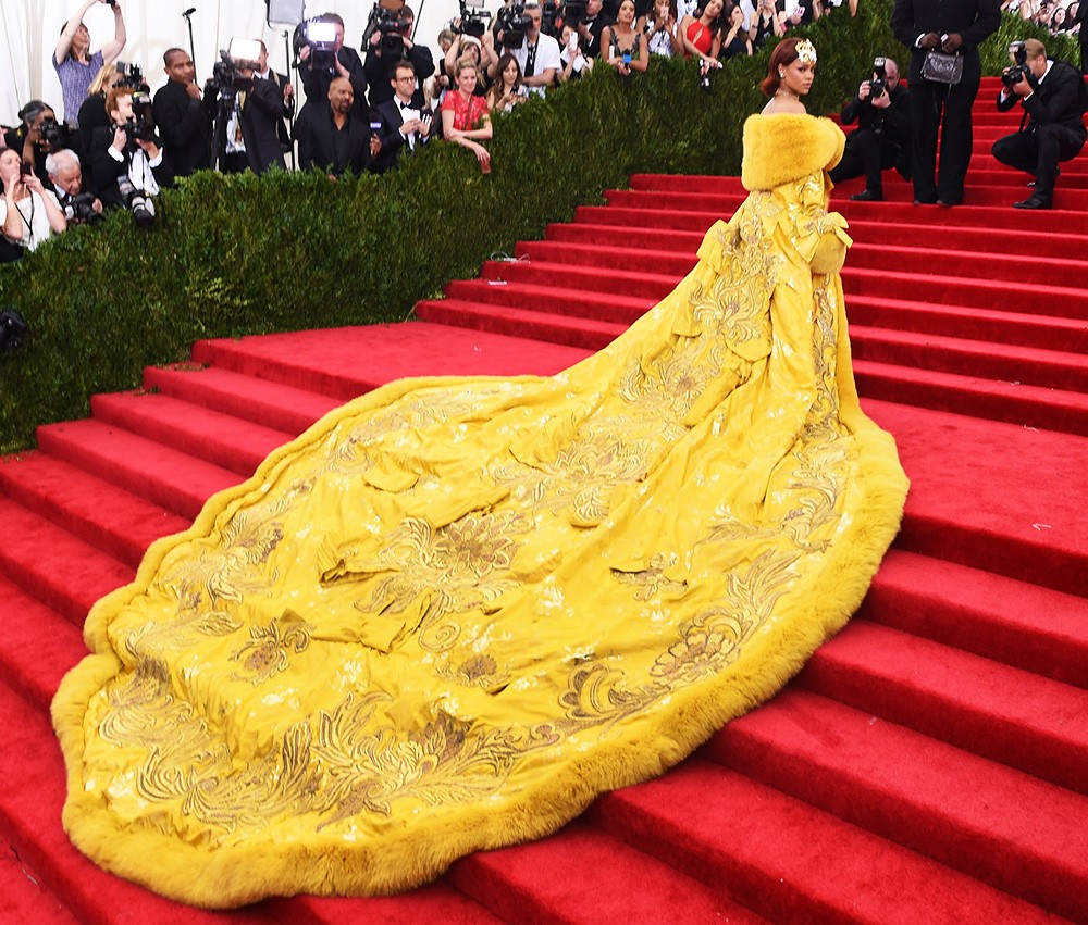Rihanna arrives at the Metropolitan Museum of Art's Costume Institute Gala