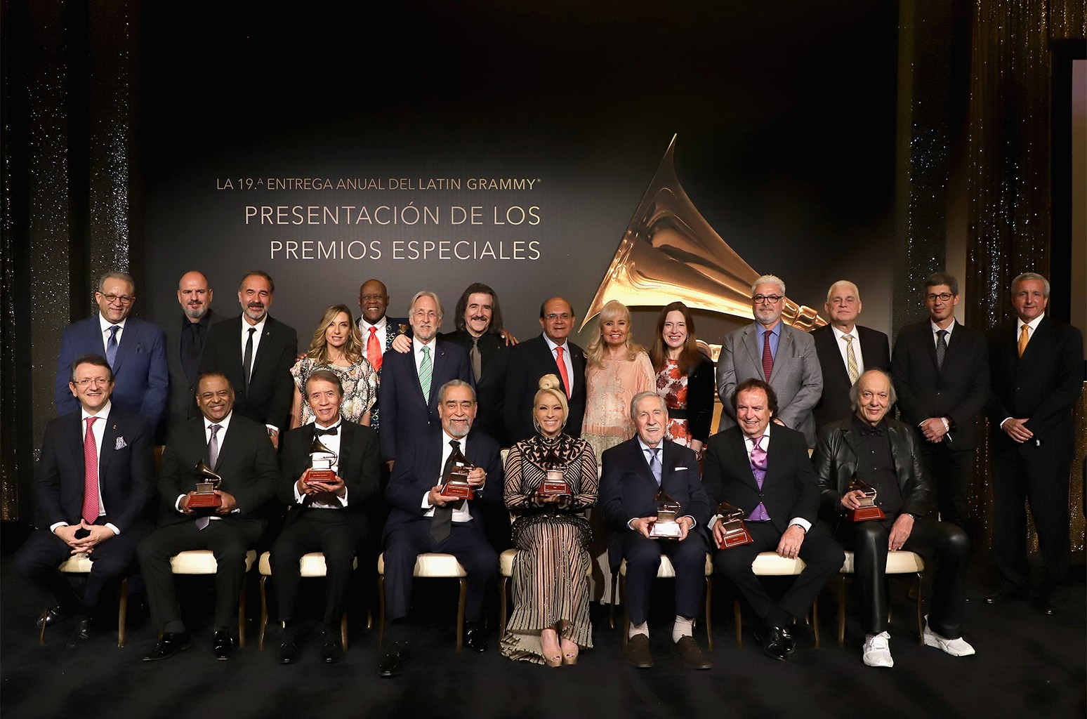 Award recipients attend the 2018 Latin Recording Academy Special Awards during the The 19th Annual Latin Grammy Awards at the Four Seasons Hotel Las Vegas on Nov. 13, 2018.