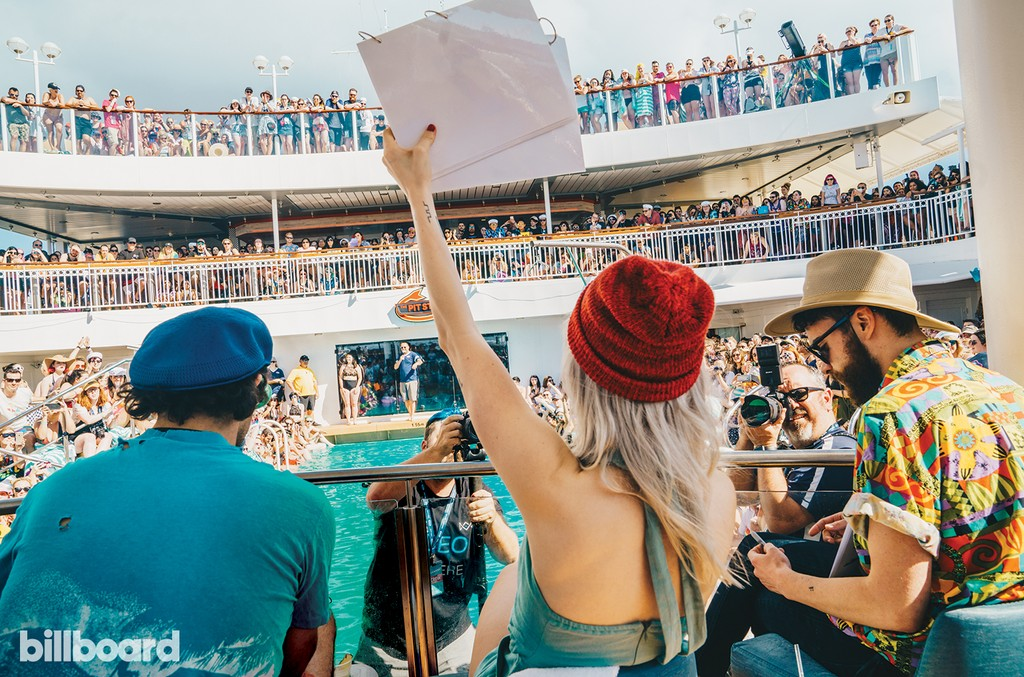Paramore Judging the Bellyflop Contest