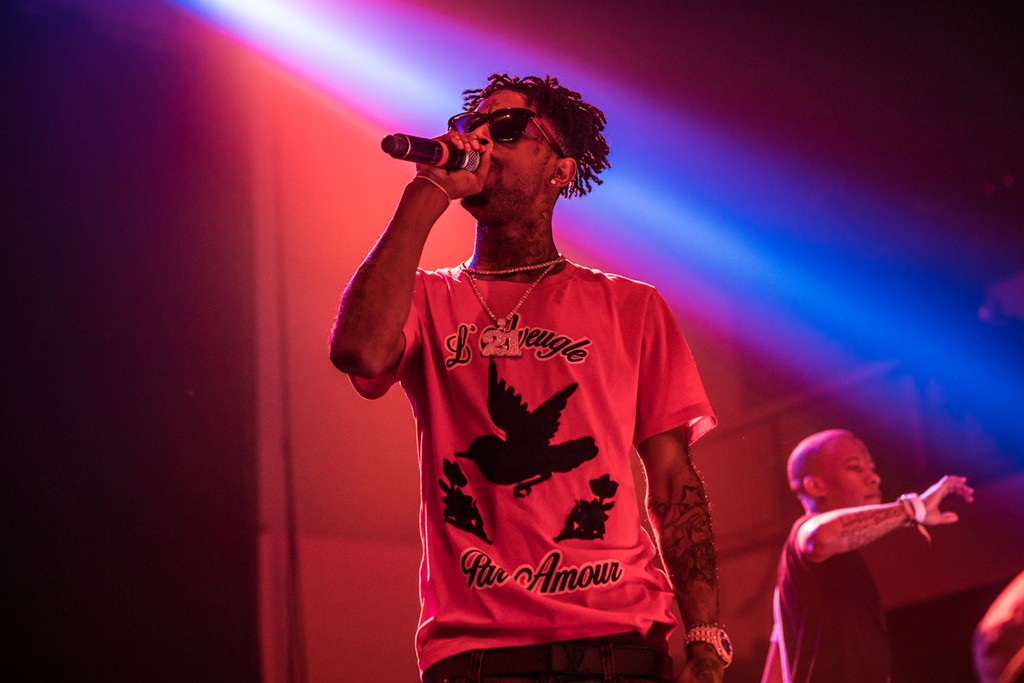 21 Savage performs at the Buku Music + Art Festival on March 11, 2017 in New Orleans.