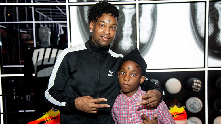21 savage teams up with puma to give kids a memorable halloween experience billboard 21 savage teams up with puma to give