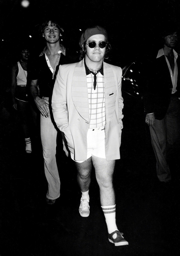 Elton John circa 1977 at Studio 54 in New York City.