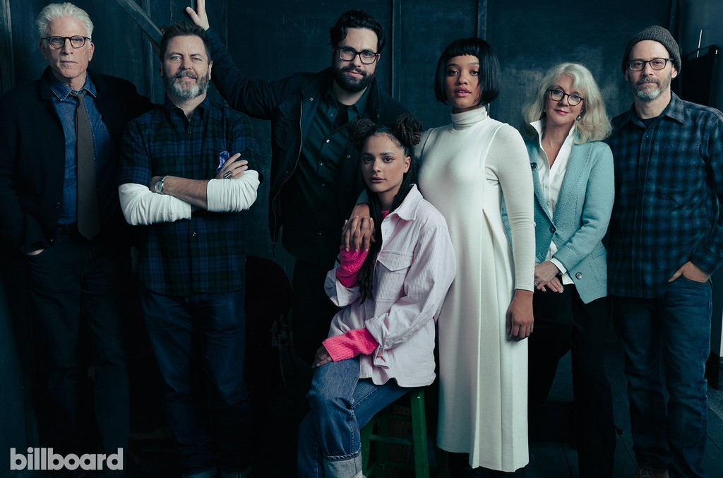 Ted Danson, Brett Haley, Nick Offerman, Sasha Lane, Kiersey Clemons, Blythe Danner and Marc Basch of 'Hearts Beat Loud'