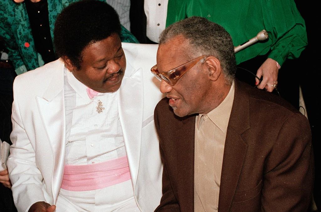 Fats Domino and Ray Charles