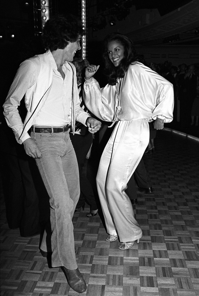 Jonathan Soresi and Jayne Kennedy at Studio 54
