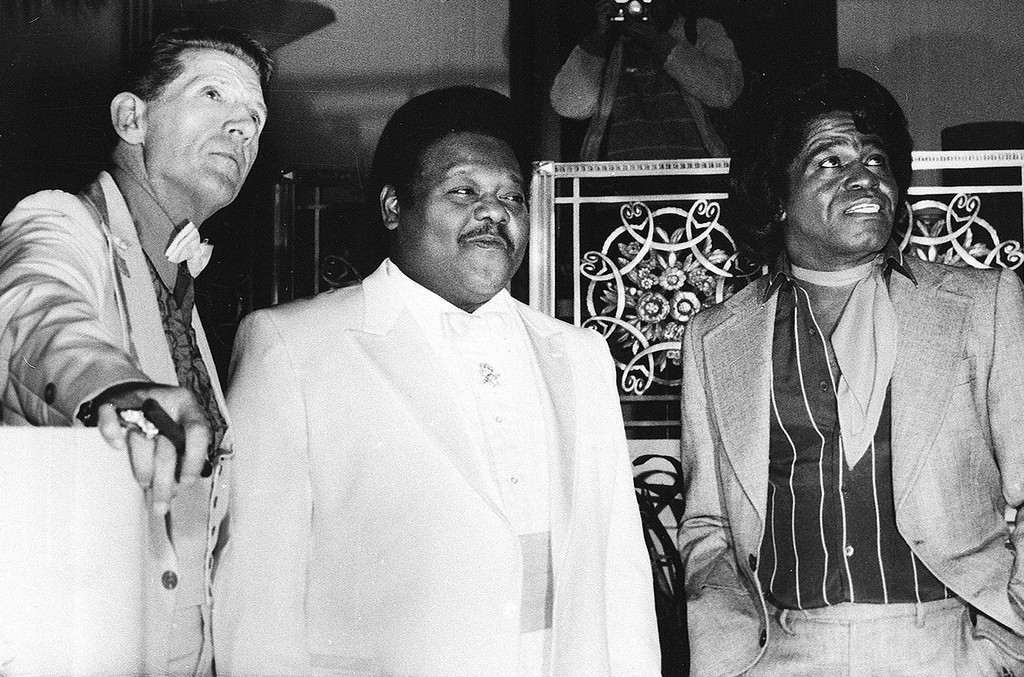 Jerry Lee Lewis, Fats Domino and James Brown