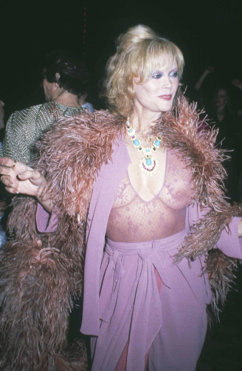 Actress Monique van Vooren struts her stuff at New York's Studio 54 in March, 1979.