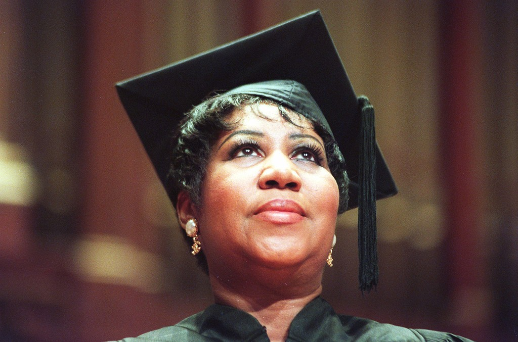Aretha Franklin at the New England Conservatory commencement at Jordan Hall in 2012. The Legendary singer was awarded an honorary Doctor of Music degree.