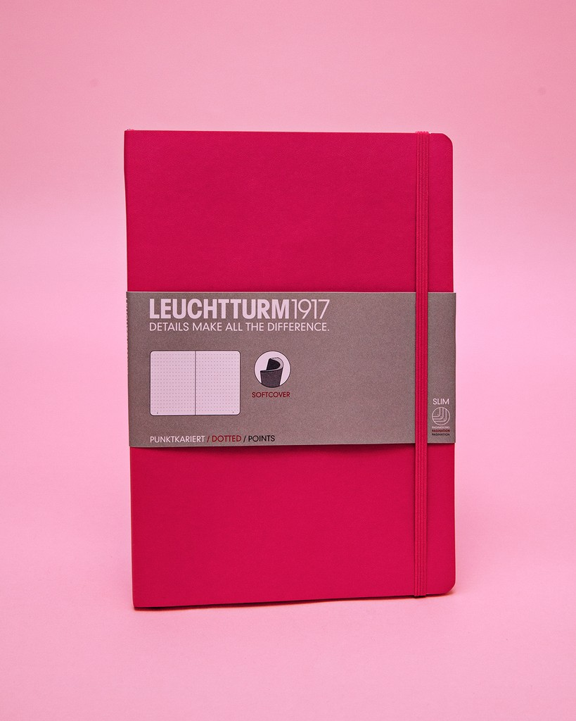 "Leuchtturm1917 B5 Softcover Dotted Notebook in ""New Pink"""