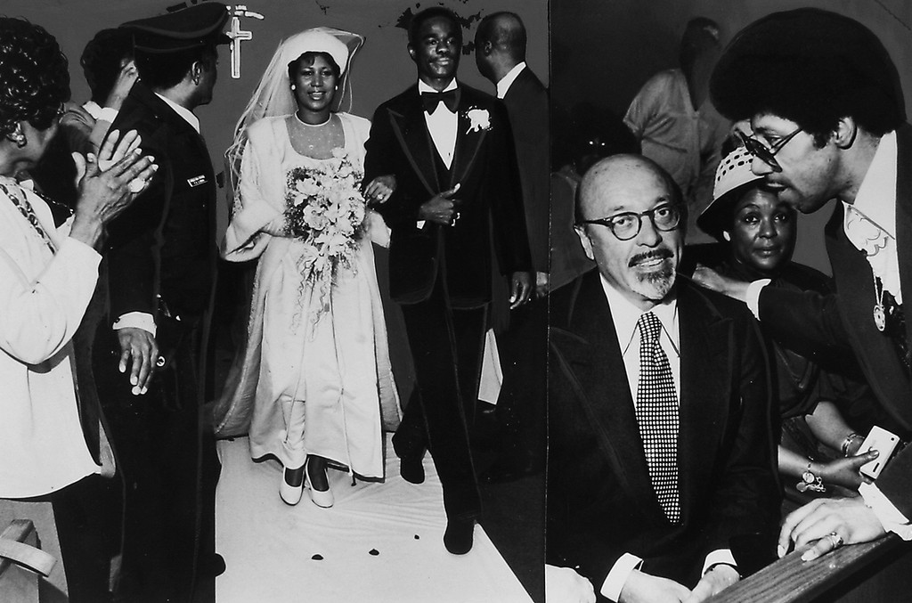 Aretha Franklin and Glynn Russell during their wedding on April 11, 1978.