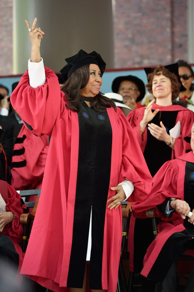 Aretha Franklin receives an Honorary Doctor of Arts Degree at the Harvard University 363rd Commencement Exercises Ceremony on May 29, 2014 in Cambridge, Mass.