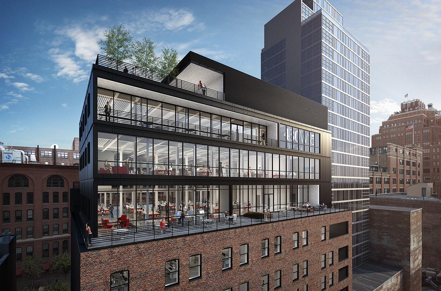 A rendering of the new Live Nation headquarters
