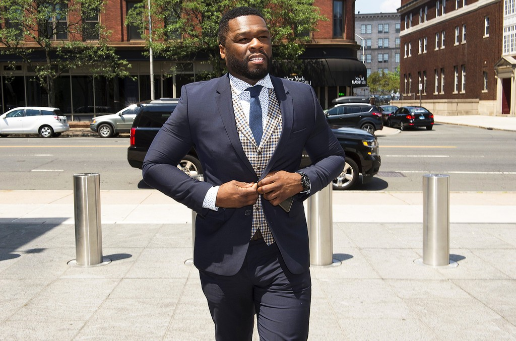 50 Cent arrives to the Federal Court House